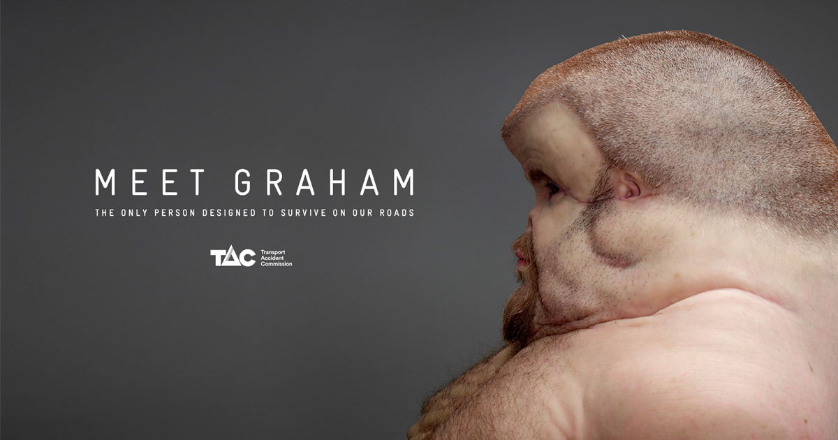 交通事故に遭っても生き残れる人間の身体を具現化「MEET GRAHAM」
