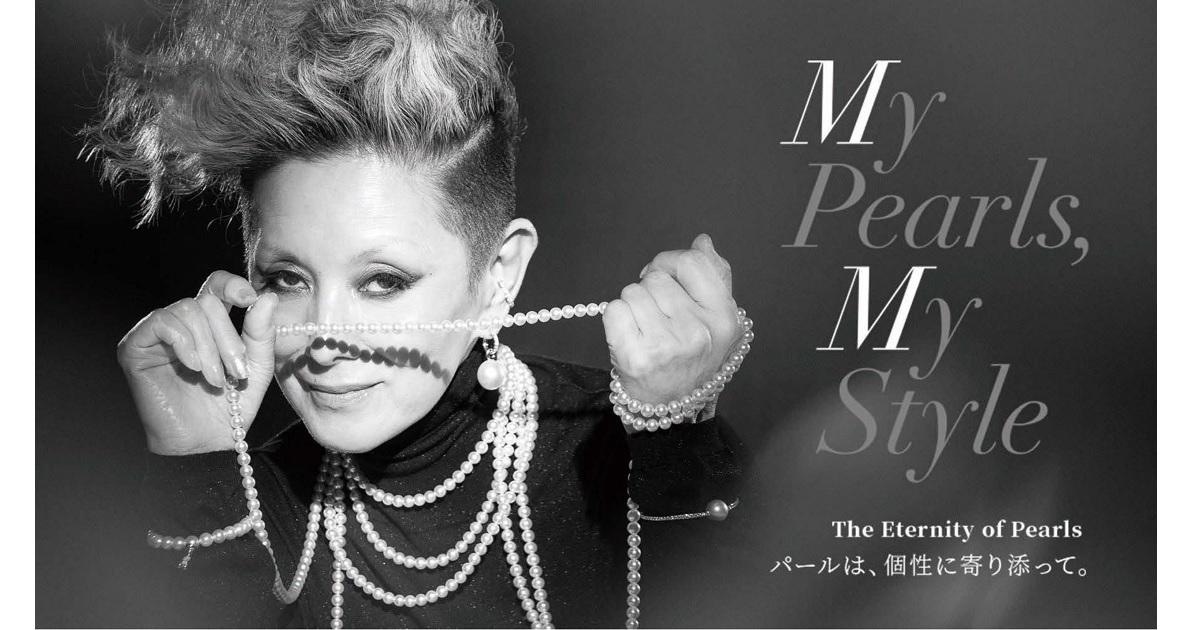 夏木マリと千葉雄大がパールをまとう、ミキモトの企業広告
