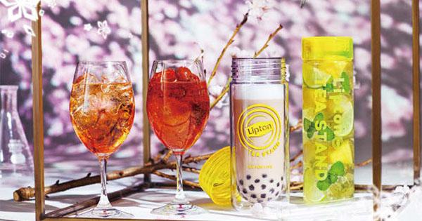 紅茶で楽しむお花見を演出 リプトン、「FLOWERS BY NAKED」とコラボ