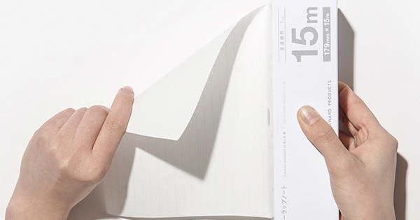 ラップみたいなノートにヒットの兆し コクヨデザインアワード受賞作品