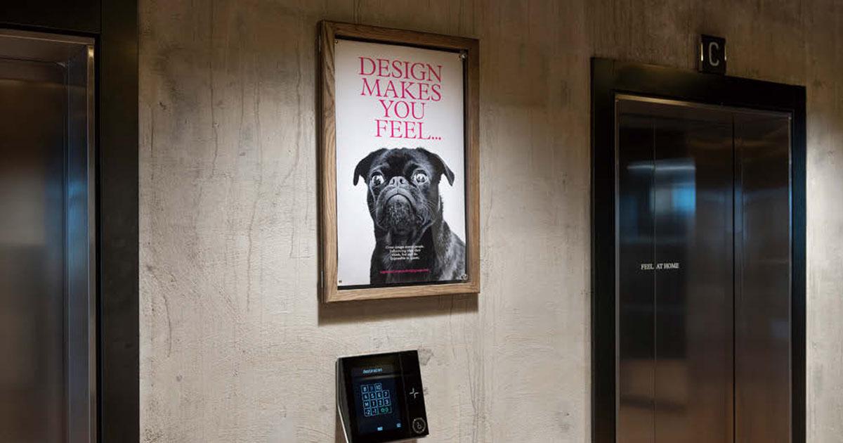 デザインの力を再考するエレベーターの内装を1週間チェンジ