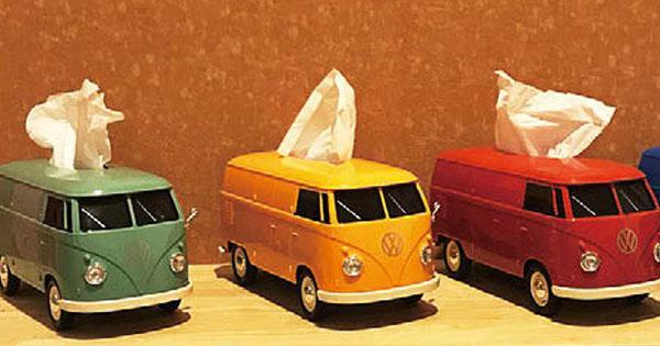 VWバス型の走るティッシュケース「東京オートサロン2019」で完売