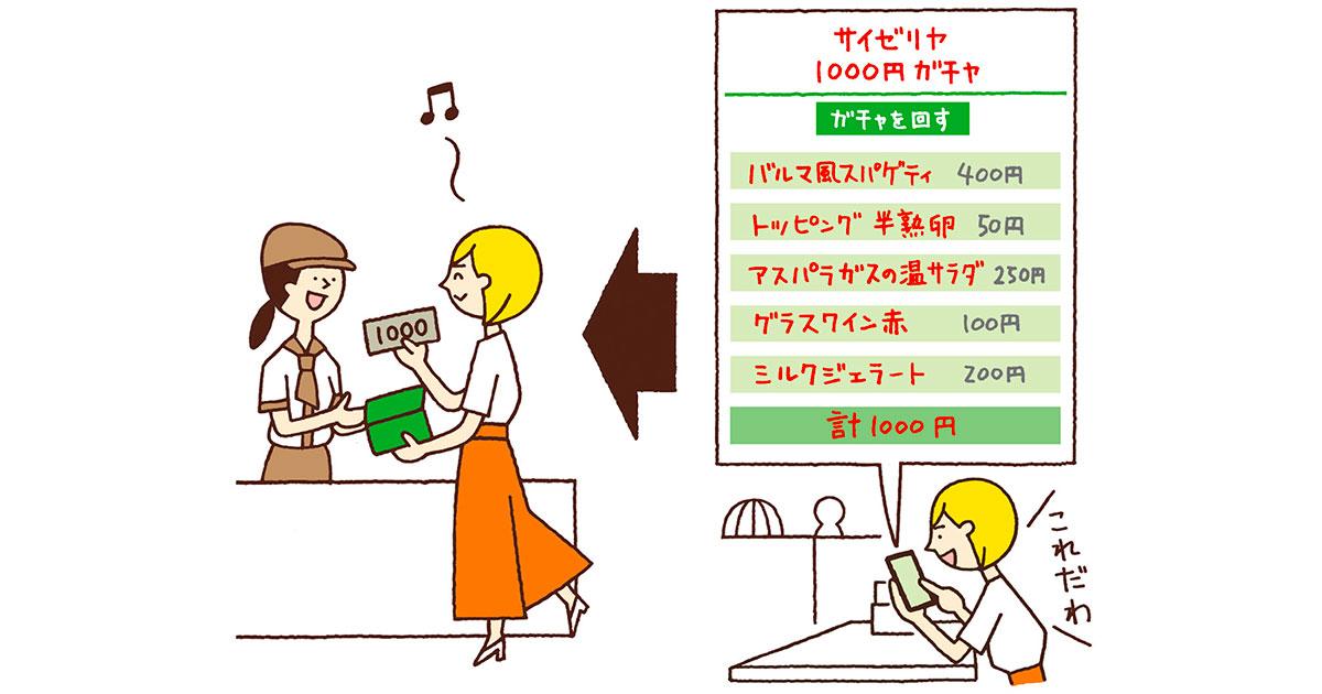 1000円ちょうどで食べたいワタシ