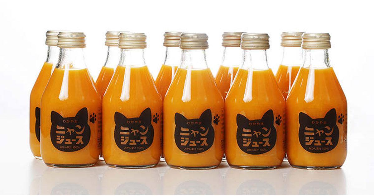 猫好きのためのみかんジュースが話題 発売半年で1万7千本を売り上げる