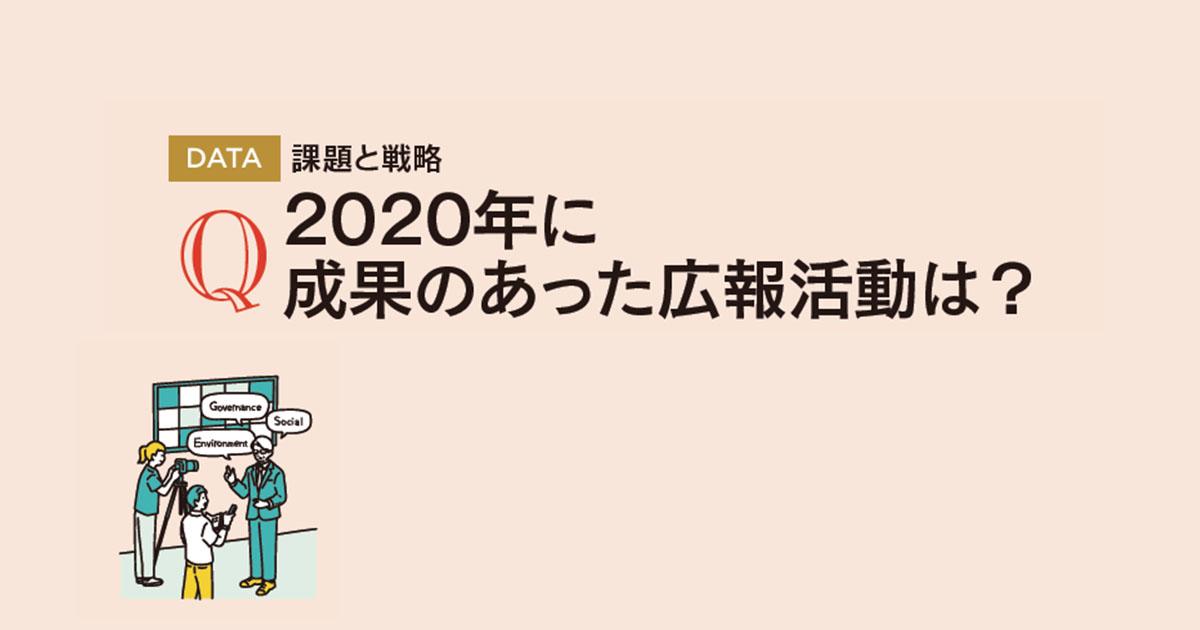 2020年に成果のあった広報活動は?