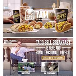 米国の比較広告「マクドナルドさんはタコベル好き」キャンペーンがヒット