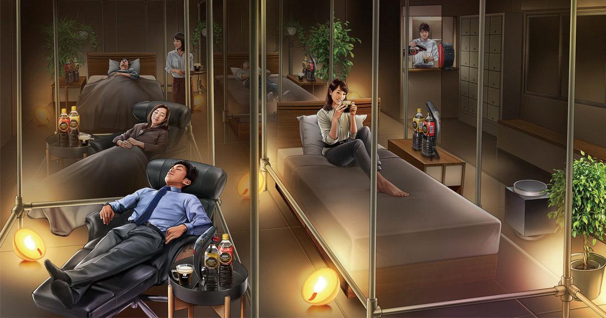ネスカフェが体験型「睡眠カフェ」オープン コーヒー飲み分けで良質な睡眠を